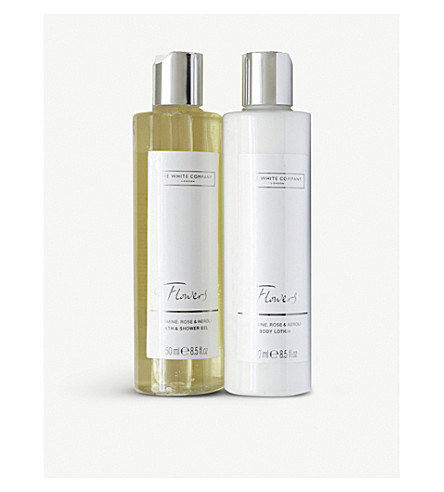 THE WHITE COMPANY Flowers bath & body set