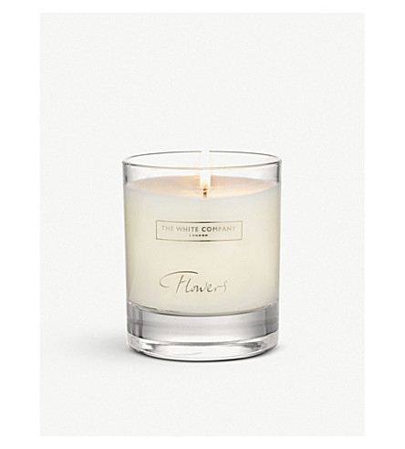 THE WHITE COMPANY Flowers scented candle 140g (No+colour
