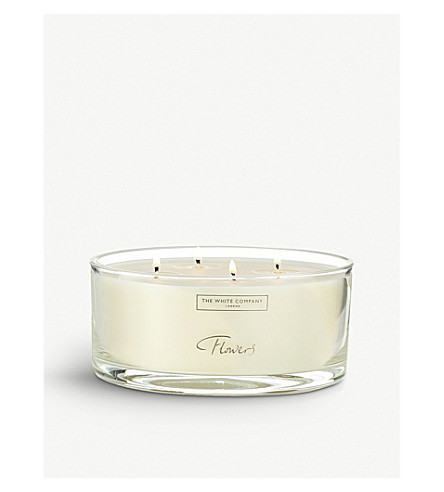 THE WHITE COMPANY Flowers large candle