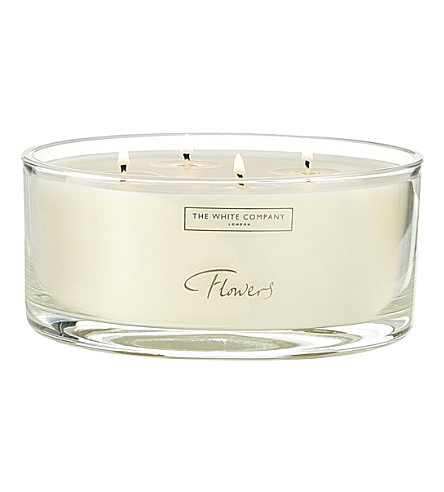 THE WHITE COMPANY Flowers large four-wick scented candle 740g