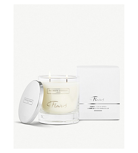 THE WHITE COMPANY Flowers scented candle with lid 280g (No+colour