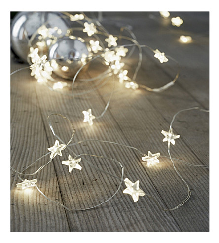 THE WHITE COMPANY 30 Star fairy lights (Clear