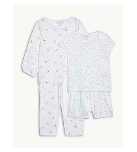 THE LITTLE WHITE COMPANY Printed cotton pyjama set of two 1-6 years (Multi