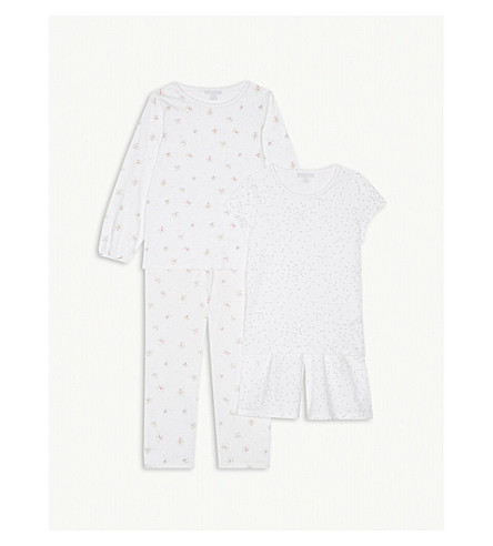 THE LITTLE WHITE COMPANY Printed cotton pyjamas set of two 7-12 years (Multi