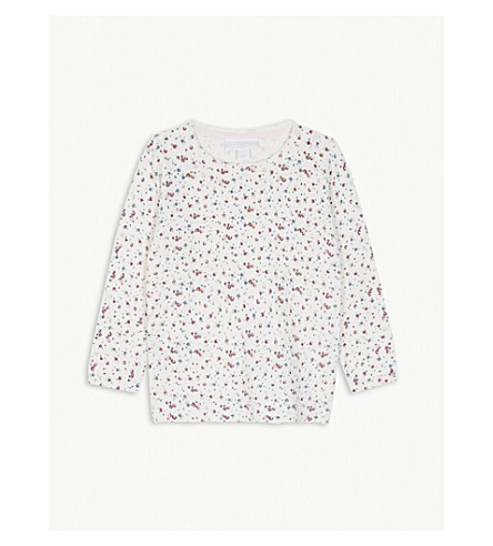 THE LITTLE WHITE COMPANY Floral wool-blend knitted jumper 1-6 years (Multi