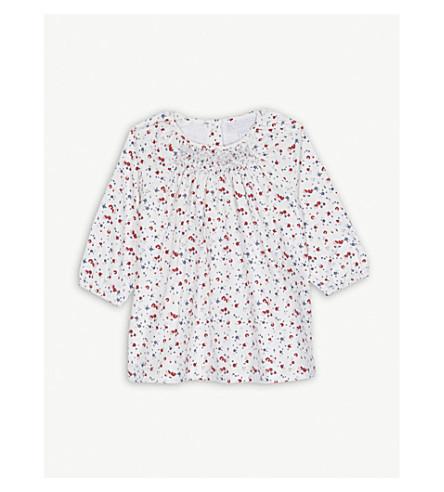 THE LITTLE WHITE COMPANY Floral print cotton dress 0-24 months (Multi