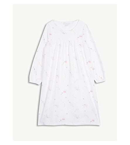 THE LITTLE WHITE COMPANY Fairy print cotton nightdress 1-6 years (Multi