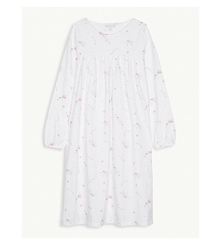 THE LITTLE WHITE COMPANY Fairy print cotton nightdress 7-12 years (Multi