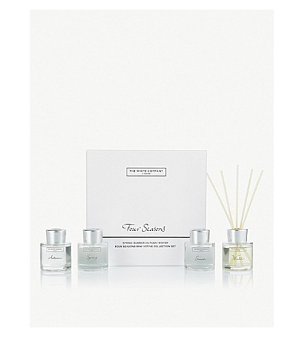 THE WHITE COMPANY Four season mini diffuser collection 4 x 50ml (No+colour
