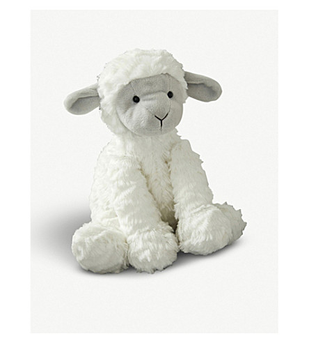 THE LITTLE WHITE COMPANY Fuddlewuddle lamb plush toy 23cm (White/grey