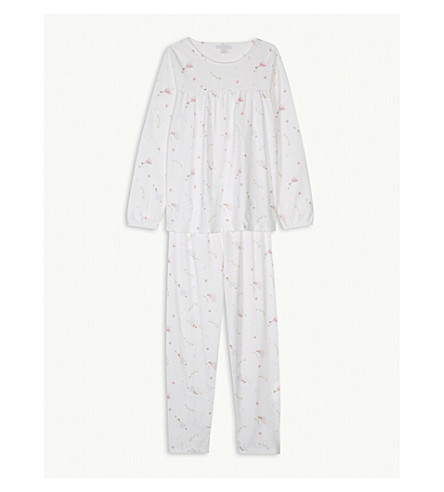 THE LITTLE WHITE COMPANY Fairy print cotton pyjamas 7-12 years (Multi