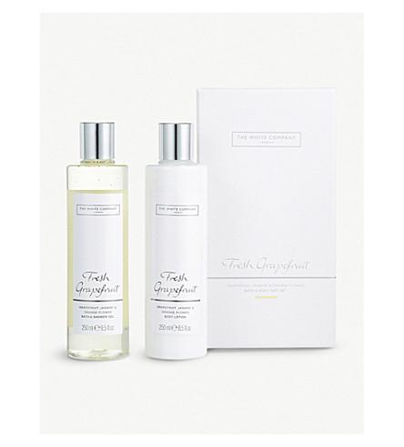 THE WHITE COMPANY Fresh Grapefruit Bath & Body gift set 250ml x 2 (No+colour