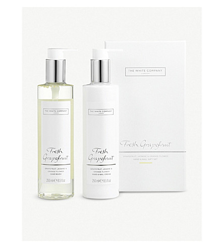 THE WHITE COMPANY Fresh Grapefruit hand and nail set 250ml x 2 (No+colour