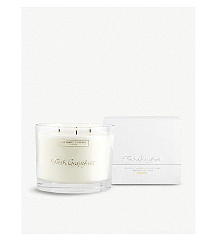 THE WHITE COMPANY Fresh Grapefruit large candle 770g (No+colour