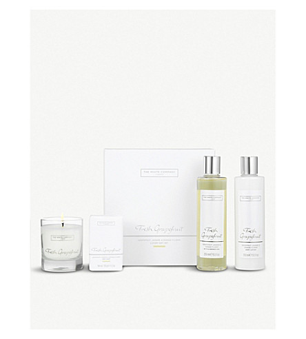 THE WHITE COMPANY Fresh Grapefruit luxury gift set (No+colour