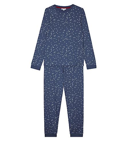 THE LITTLE WHITE COMPANY Glow in the dark star pyjamas 7-12 years (Blue