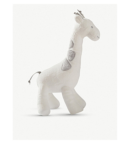 THE LITTLE WHITE COMPANY Georgia giraffe squeak (White/grey