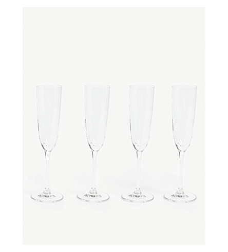 THE WHITE COMPANY Belgravia champagne flutes set of four (Clear