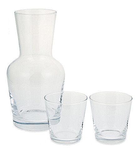 THE WHITE COMPANY Carafe and stacking tumblers set