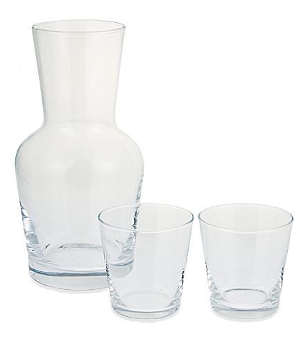THE WHITE COMPANY 水瓶和堆叠玻璃杯套装