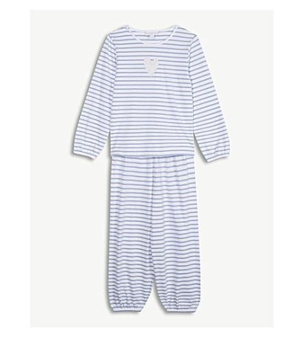 THE LITTLE WHITE COMPANY Glitter heart cotton pyjamas 1-6 years (Multi