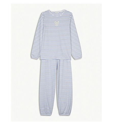 THE LITTLE WHITE COMPANY Glitter heart striped cotton pyjamas 7-12 years (Multi