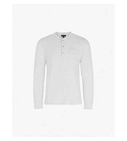 THE WHITE COMPANY Patch-pocket cotton-jersey pyjama top (Pale+grey+marl