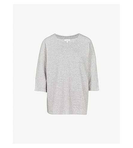 THE WHITE COMPANY Grosgrain oversized top (Silvergreymarl