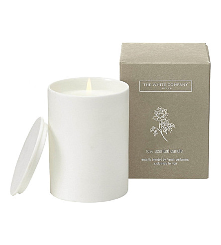 THE WHITE COMPANY Rose Candle 170g (No+colour