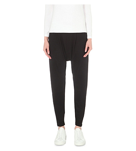 THE WHITE COMPANY Jersey harem trousers (Black