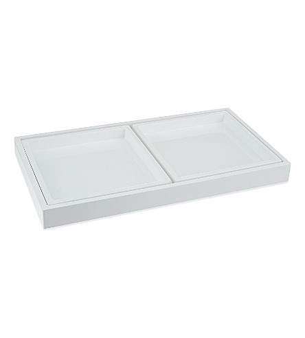 ... Lacquer Dressing Table Trays Set Of Three (White. PreviousNext