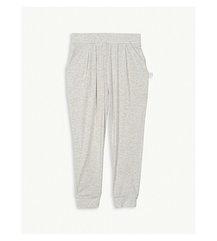THE LITTLE WHITE COMPANY Hareem marled trousers 5-12 years (Grey