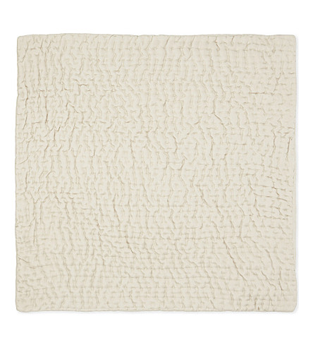 THE WHITE COMPANY Silk Hadleigh large square cushion cover (Champagne