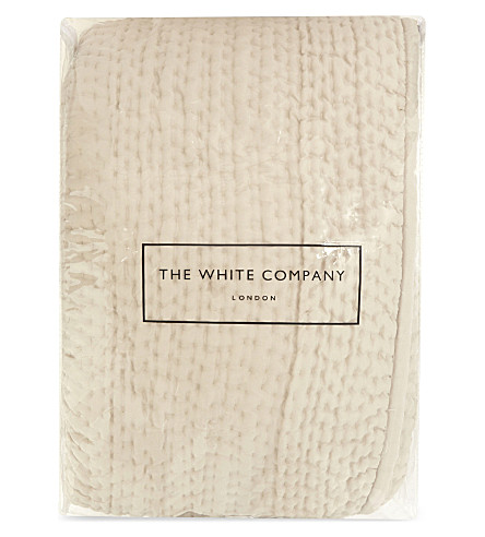 THE WHITE COMPANY Hadleigh silk double quilt (Champagne