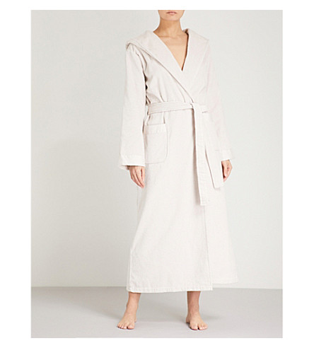 THE WHITE COMPANY Hooded cotton-velour robe (Natural