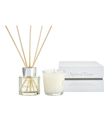 THE WHITE COMPANY Highland Escape diffuser and votive set (No+colour