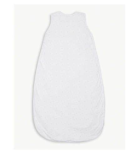 THE LITTLE WHITE COMPANY Heart ruffle cotton sleeping bag 1.0 tog 6-12 months (White