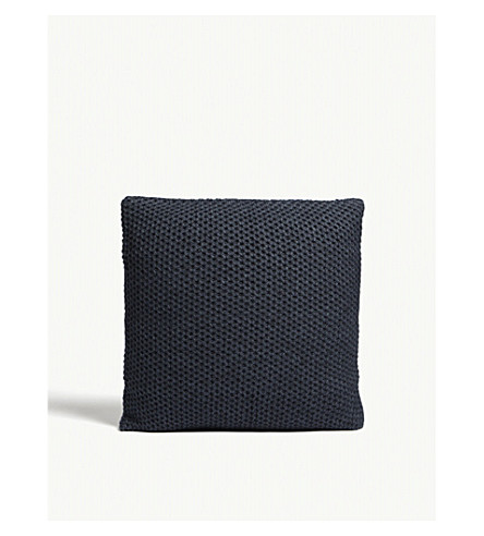 THE WHITE COMPANY Holkam 针织靠枕盖 50x50厘米 (海军