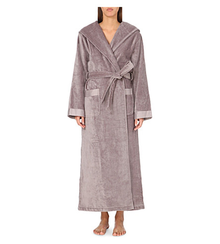 THE WHITE COMPANY - Hooded velour dressing gown | Selfridges.com