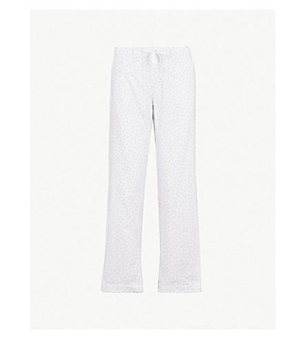 THE WHITE COMPANY Heart print flannel pyjama bottom (White/grey