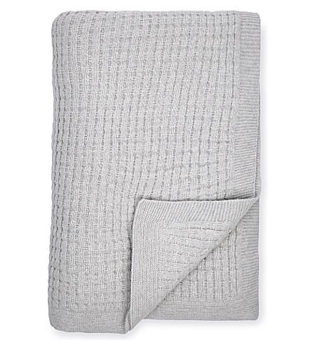 THE WHITE COMPANY Harris knit throw (Silver+grey