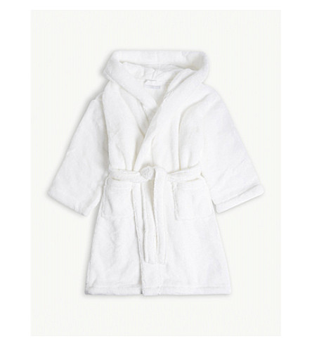 THE LITTLE WHITE COMPANY Hooded cotton robe with ears 3-4 years (White