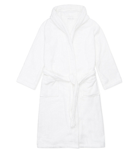 THE LITTLE WHITE COMPANY Hydrocotton unisex bathrobe 1-6 years (White