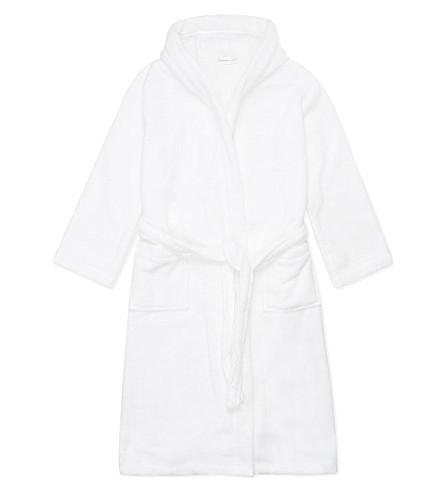 THE LITTLE WHITE COMPANY Hydrocotton unisex bathrobe 1-6 years (White