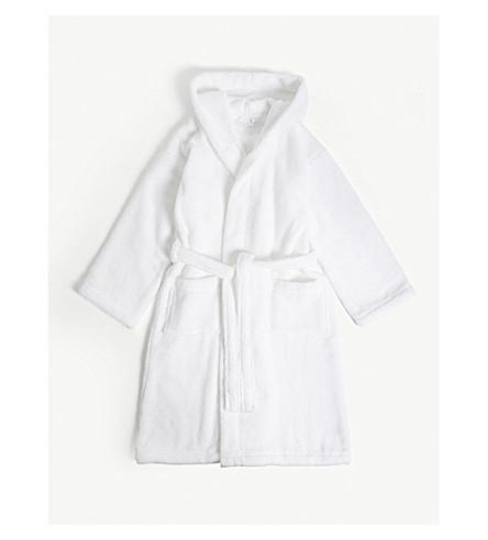 THE LITTLE WHITE COMPANY Hydrocotton 中性浴衣7-12 年 (白色