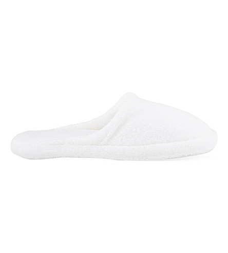 THE WHITE COMPANY Hydrocotton unisex slippers (White