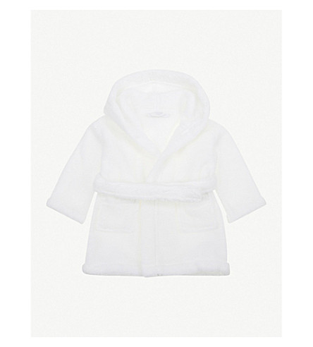 THE LITTLE WHITE COMPANY Hydrocotton baby robe 0-12 months (White