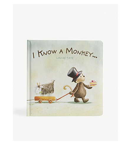 THE LITTLE WHITE COMPANY I Know A Monkey...story book (Multi