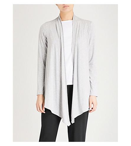 THE WHITE COMPANY Draped jersey cardigan (Pale+grey+marl