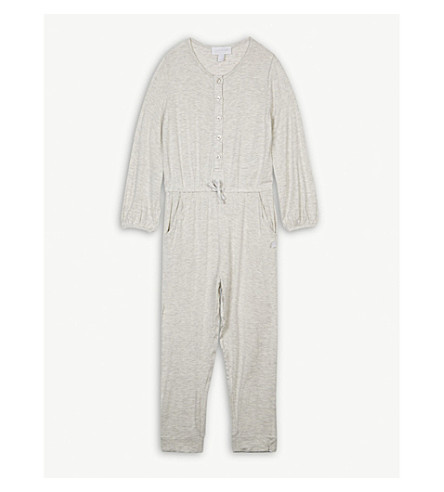 THE LITTLE WHITE COMPANY Jersey jumpsuit 5-12 years (Grey